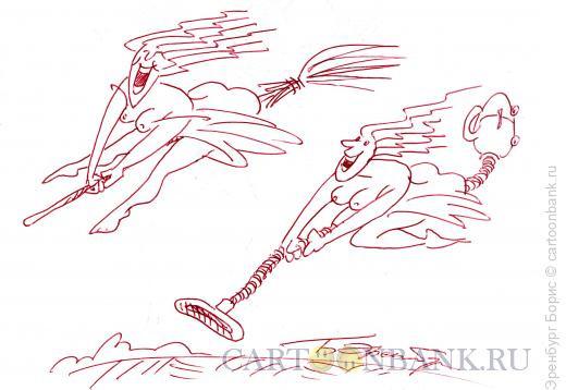 Карикатура: На шабаш, Эренбург Борис