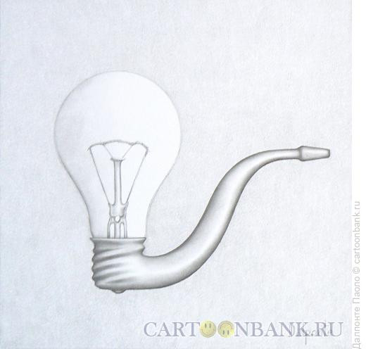 Карикатура: трубка-лампа, Далпонте Паоло