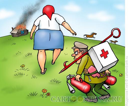 Карикатура: Женщина из русских селений, Андросов Глеб