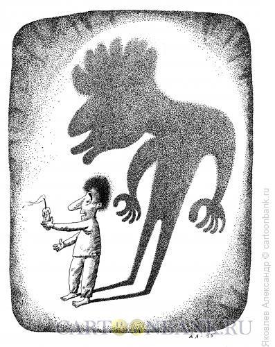 Карикатура: Тень, Яковлев Александр