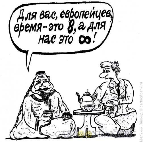 Карикатура: Запад и Восток, Мельник Леонид