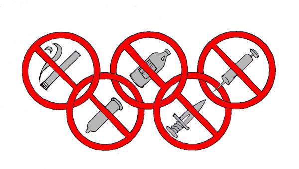 Карикатура: за ЧИСТОТУ олимпийских игр !!!, Юрий Санников