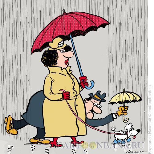 Карикатура: Дождь, Воронцов Николай