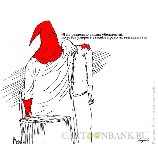 Карикатура: Слова Вольтера, Богорад Виктор