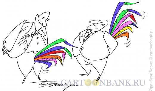 Карикатура: петушки, Эренбург Борис