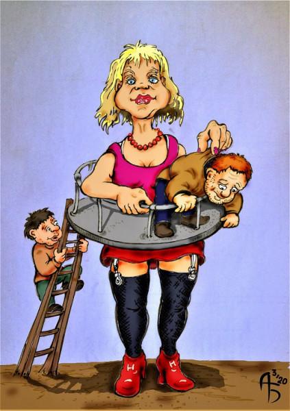Карикатура: Смотровая площадка, backdanov