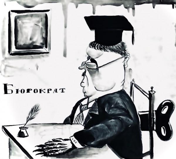 Карикатура: Кукла-чиновник, Ипполит Сбодунов