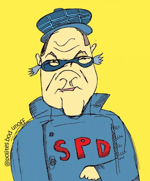 Карикатура: Подсидел, Ипполит Сбодунов