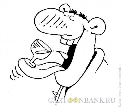 Карикатура: Ловкач, Кийко Игорь