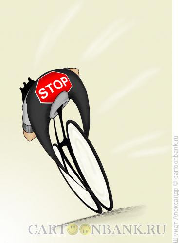 Карикатура: Лидер гонки, Шмидт Александр