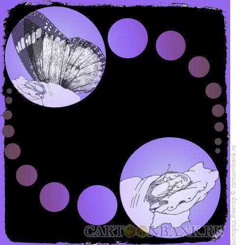 Карикатура: Философ и бабочка, Богорад Виктор