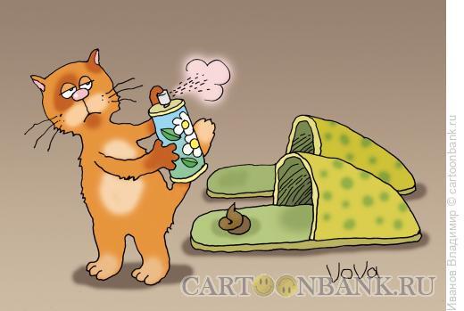 Карикатура: Интеллигентный кот, Иванов Владимир