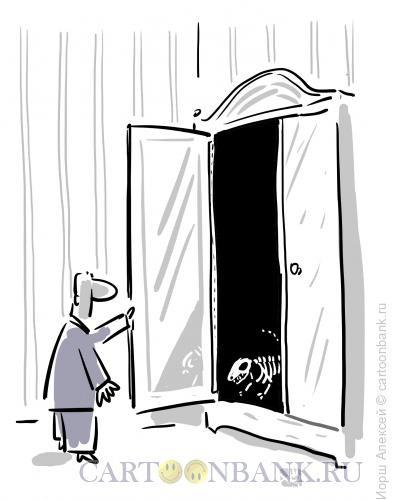 Карикатура: Скелет в шкафу, Иорш Алексей