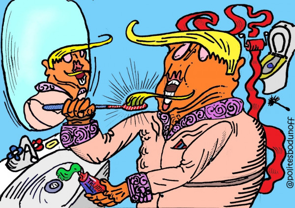 Карикатура: Чёлочка для щеточки, �пполит Сбодунов