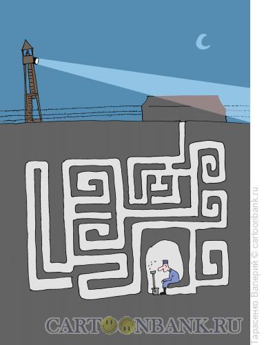 Карикатура: Побег, Тарасенко Валерий