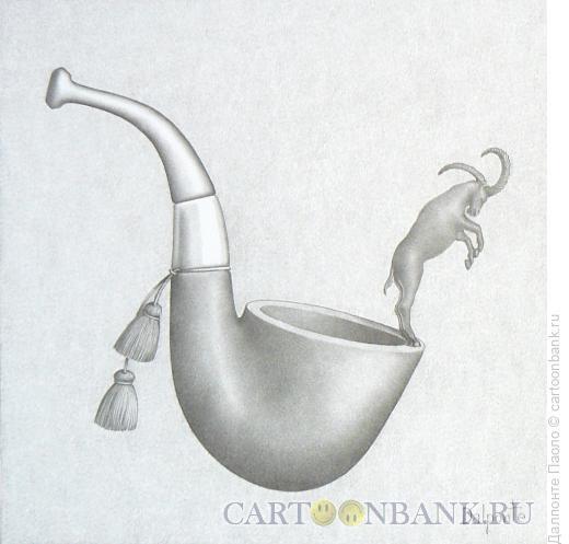 Карикатура: трубка охотника, Далпонте Паоло