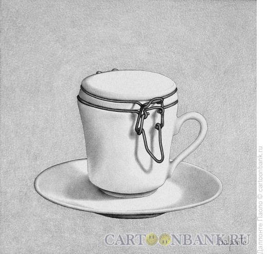 Карикатура: чашка с крышкой, Далпонте Паоло