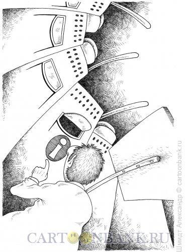 Карикатура: Отдел информации (ч/б), Шмидт Александр