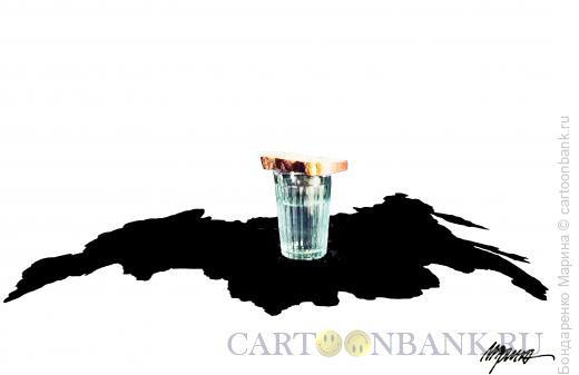 Карикатура: Россия, как поминальный стол, Бондаренко Марина