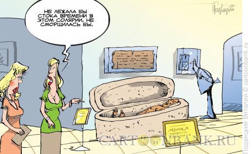 Карикатура: В музее, Подвицкий Виталий