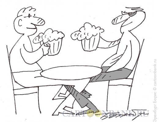 Карикатура: пивная, Эренбург Борис
