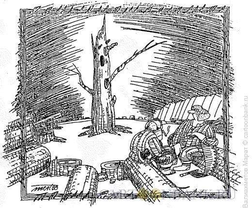 Карикатура: Лебединая песня, Валиахметов Марат
