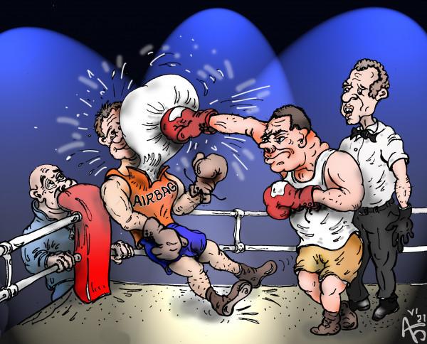 Карикатура: Подушка безопасности, backdanov