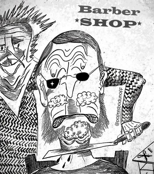 Карикатура: Сибирский цирюльник, �пполит Сбодунов