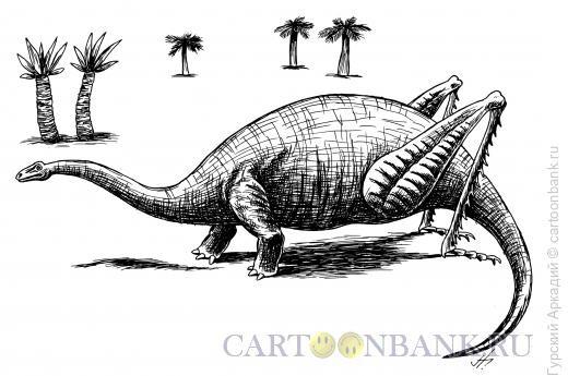 Карикатура: динозавр-кузнечик, Гурский Аркадий