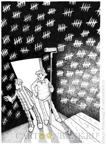 Карикатура: Назревший ремонт (ч/б), Шмидт Александр