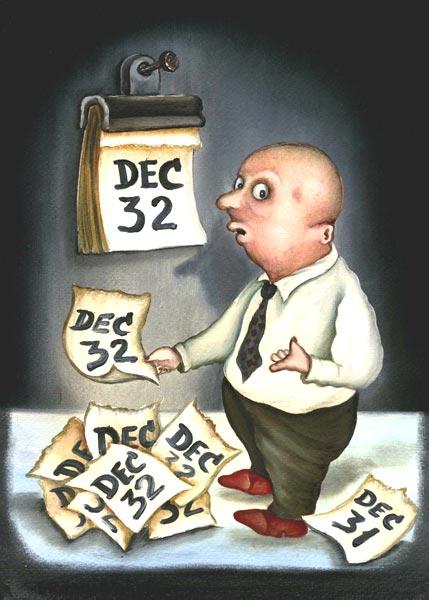 Карикатура: Дед Мороз умер., Игорь Ревякин