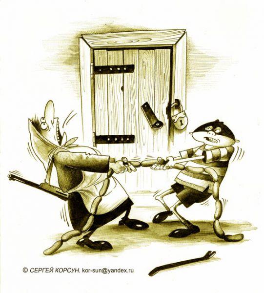 Карикатура: Детская преступность, Сергей Корсун