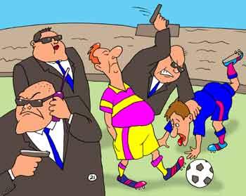 Карикатура: VIP-легионер, Евгений Кран