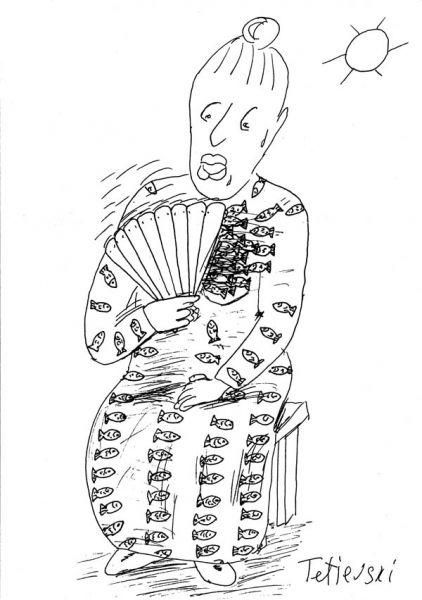 Карикатура: жарко!, Михаил Тетиевский