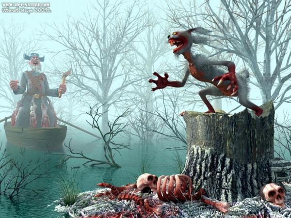 Карикатура: Дед Mustdie и зайцы..., Иванов Игорь