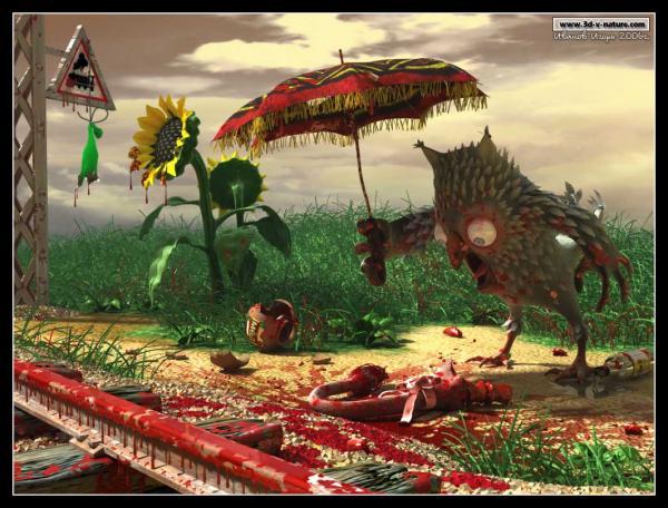 Карикатура: Как ослик Иа хвост потерял..., Иванов Игорь