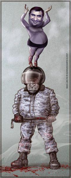 "Карикатура: ""ДЭВОЧКА"" НА ШАРЕ (СФЕРЕ), Kalininskiy (Валентин Калининский)"
