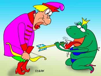 Карикатура: Лягушка 3, Евгений Кран