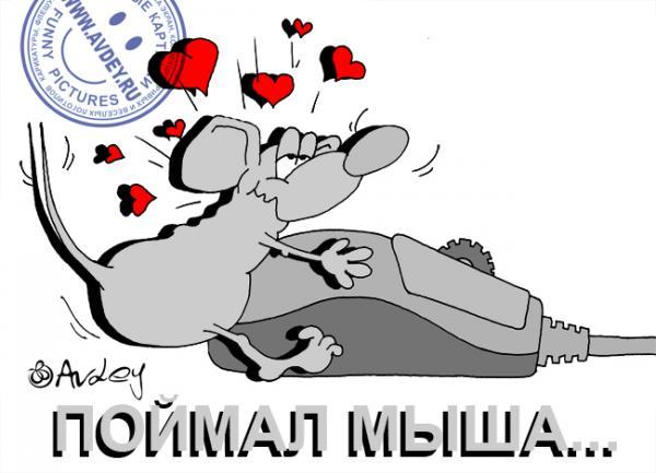 Карикатура: ПОЙМАЛ МЫША,,,, Авдей (Avdey)