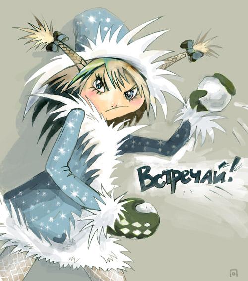 Карикатура: Злобная Снегурочка, Ольга Павлова