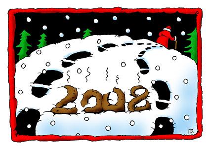 Карикатура: Дед Мороз, Ольга