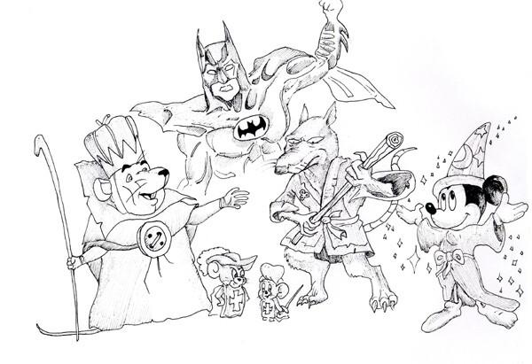 Карикатура: Вся королевская RAT'ь, Рябов Евгений
