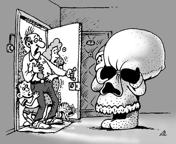 Карикатура: Что-то не так?, Валентин Дубинин