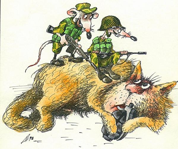 Карикатура: Последний бой, Александр