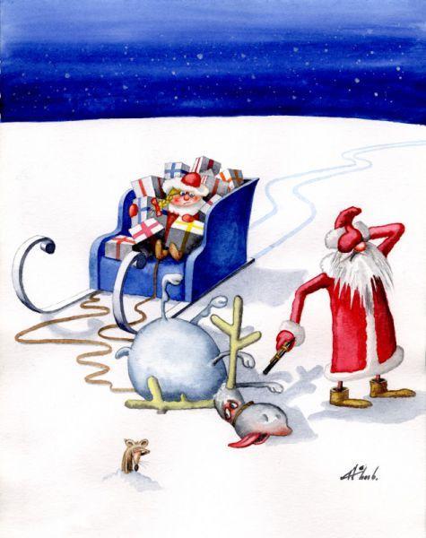 Карикатура: Олень, Александр