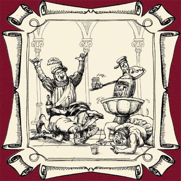Карикатура: ПЕЙ!!! Шура Каретный и Оракул Божественной Бутылки, Александр Маркелов