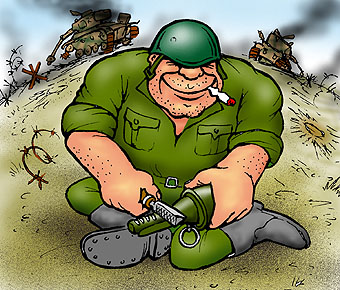 "Карикатура: ""Еще парочку..."", Глеб Андросов"