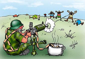 Карикатура: Война с голодом, Глеб Андросов