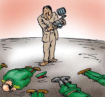 Карикатура: Вспышка с фронта!, Глеб Андросов