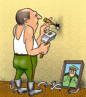 Карикатура: Это должно сработать..., Глеб Андросов